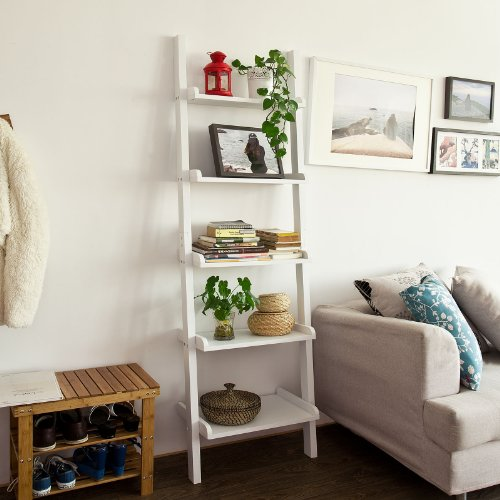 sobuyr-white-modern-5-tiers-wood-ladder-shelf-storage-display-shelving-wall-shelf-bookcase-189x56cm-