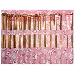 Tenflyer Solo punto 36 piezas carbonizado Bambú agujas de tejer en 1 Set