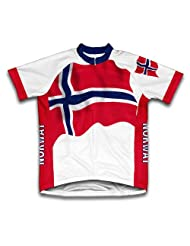 Norway Flag Short Sleeve Cycling Jersey for Women