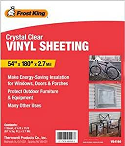 Frost King Crystal Clear Vinyl Sheeting 2 7 Mil 54