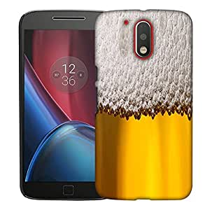 Snoogg Beer Bubbles Designer Protective Back Case Cover For MOTO G4 PLUS