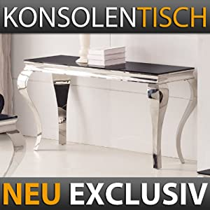 konsolentisch 140 x 45 x 75 mara schwarz flur wandtisch. Black Bedroom Furniture Sets. Home Design Ideas