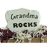 Grandma Rocks - Engraved in a Heavy little Stone