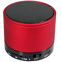 UBON Wireless Bluetooth Speaker With FM & SD Card & Rechargeable Battery Support (BT-20) (Red)
