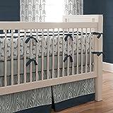 Carousel Designs Navy and Gray Deer Crib Comforter
