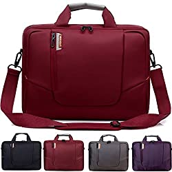 BRINCH(TM) 15.6 inch New Soft Nylon Waterproof Laptop Computer Case Cover Sleeve Shoulder Strap Bag with Side Pockets Handles and Detachable for Macbook Pro Retina 15 inch Mini Asus/DELL/HP/Samsung ,Colour Red
