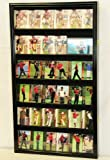 Large Sport / Collectible Card Display Case Cabinet Holder w/ UV Acrylic door