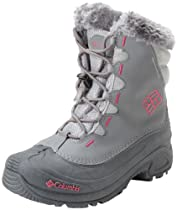 Big Sale Best Cheap Deals Columbia Bugaboot Waterproof Bungee and Toggle Winter Boot,Shale/Bright Rose,6 M US Big Kid