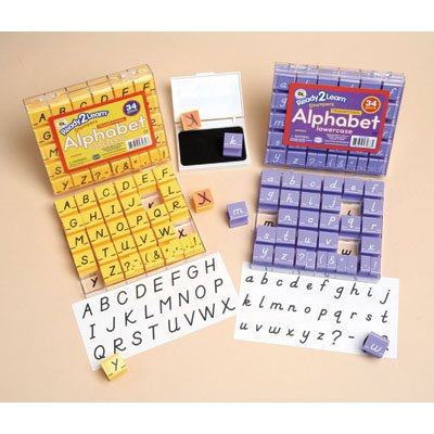 Center Enterprises Inc - Transitional Modern Alphabet Stamp Set