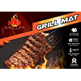 Mad Griller BBQ Grill Mat, Heavy Duty Nonstick, Reuseble, PFOA Free, Dishwasher Safe, Set of 2