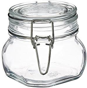 Bormioli Rocco Fido Square Clear Jar, 17 1/2 Ounce
