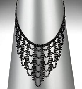 Multi-Faceted Bead Deco Cascade Necklace