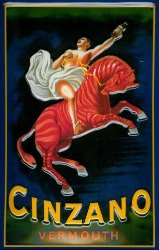 cinzano-vermouth-horse-piastra-metallo-metallo-metallo-stagno-firmare-20-x-30-cm