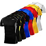 Men's Boys TCA HyperFusion Compression Base Layer Top Short Sleeve Under Shirt