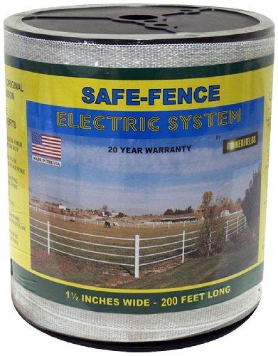 Powerfields K-3 Safe-Fence, 200-Feet 1.5-Inch, White