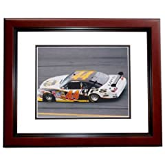 Dale Jarrett Autographed Hand Signed Nascar 8x10 Photo MAHOGANY CUSTOM FRAME - 2014... by Real Deal Memorabilia