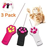 Kany Cat Toy Catch Interactive LED Light Pointer Paw Style Exercise Chaser Toy Pet Scratching Training Tool(3 Pack)