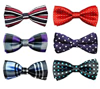 6pc Adjustable Pre-tied Boys Bow Tie Accessory Set (BBT-02) by Zakka Republic