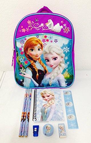 "Disney Frozen Princess Anna And Elsa 11"" Mini Toddler Backpack And Disney Frozen Princess Elsa Stationary Set front-417396"