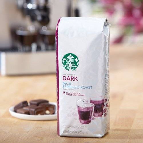 Starbucks Decaf Espresso Roast, Whole Bean Coffee (1lb)