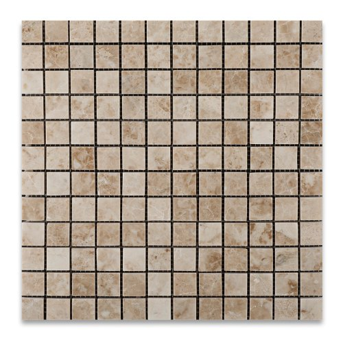 Cappuccino Marble Polished 1 X 1 Mosaic Tile on Mesh - Box of 5 sq. ft.