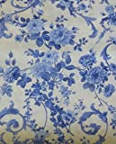 Porcelain Blue~Large Flowers by Northcott~ Cotton Fabric Floral for Sewing and Quilting
