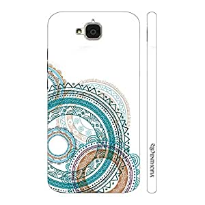 Enthopia Designer Hardshell Case Beautiful Gears Back Cover for Huawei Honor Holly 2 Plus