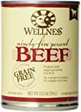 Wellness Natural Grain Free Wet Canned Dog Food, 95-Percent Beef Recipe, 13.2-Ounce Can (Value Pack of 12)