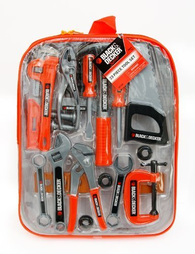 Black And Decker Junior Tool Backpack Set Children, Kids, Game front-885753