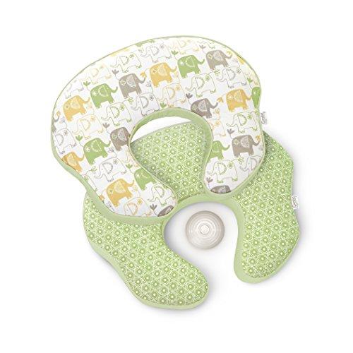 Comfort & Harmony Mombo Deluxe Covered Nursing Pillow, Enchanting Elephants