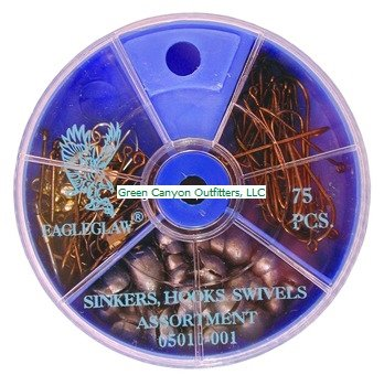 Eagle Claw Hook Swivel and Sinker Assortment,