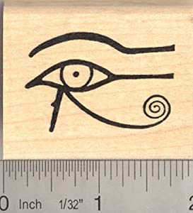 Eye of Horus Egyptian Rubber Stamp, AKA Eye of Ra or Eye of Wedjat (His left eye, on your right if you were facing him)