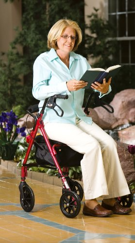 Carex-Rolling-Walker-Rollator-with-Padded-Seat-and-Backrest