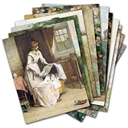 Rural Life - Box Set of 12 Assorted Greeting Cards and Patterned Envelopes