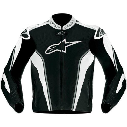 Alpinestars GP Tech Leather Jacket , Gender: Mens/Unisex, Apparel Material: Leather, Distinct Name: Black/Gray/White, Primary Color: Black, Size: 56 3108612-140-56
