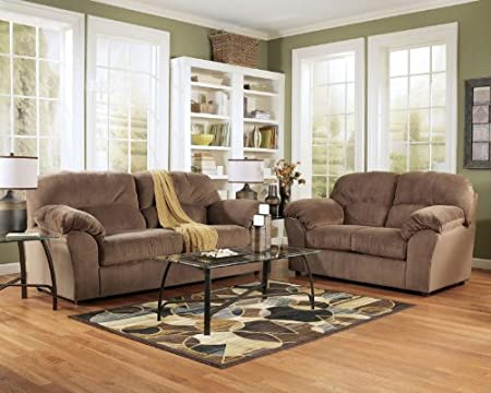 Brown Sofa and Loveseat Set