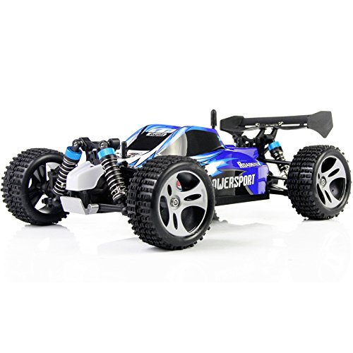 SmartLife 1/18 Scale Monster Truck 2.4G RC Stunt SUV Off-road Racing Car Remote Control Car Rock Crawler Toy Truck Blue - US Plug (Grasshopper Remote Control Car compare prices)