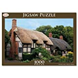 Toyrific 1000pc Cottage Jigsaw Puzzle Rainy Day Games Children Adults Ellderly (Two Cottages)
