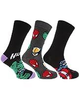 Marvel - Chaussettes à motif super héro (lot de 3 paires) - Homme
