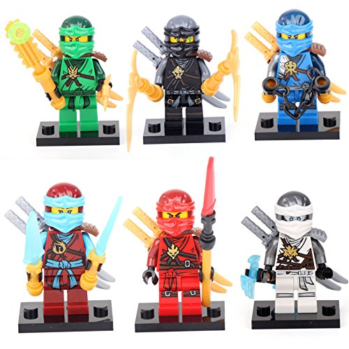 6 Minifigures Jay Cole Nya Lloyd Kai Zane Building Bricks Toy lEGO  sc 1 st  Importitall & 6 Minifigures Jay Cole Nya Lloyd Kai Zane Building Bricks Toy ...