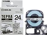 KING  JIM  ラベルライター「テプラ」PROカートリッジ「キレイにはがせるラベル」24mm SS24KE 白
