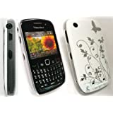 FLASH SUPERSTORE BLACKBERRY 8520 CURVE / 9300 CURVE 3G WHITE FLOWERS SUPER SLIM CLIP ON PROTECTION CASE/COVER/SKIN + SCREEN PROTECTORby FLASH SUPERSTORE