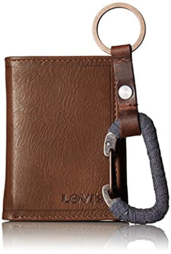 09. Levi's Men's Wallet with Wrapped Key Fob Gift Set