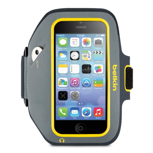 Best Price Belkin Sport-Fit Plus Armband for iPhone 5, 5S, 5c and iPod touch 5th Generation (Gravel / Citrus)