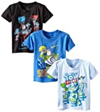 Disney Little Boys' Toy Story Three-Pack Tee