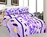 BeautifulHOMES Mejestic Cotton Double Bedsheet With 2 Pillow Cover - Pink and Blue