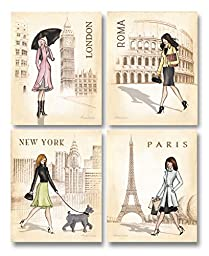 Paris, London, Roma and New York Set by Andrea Laliberte 11\