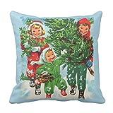 【Koana Shop】クリスマスツリーのクリスマスの枕を得ること クッションカバー 45x45cm 抱き枕カバー 車 ソファ 部屋 ベッド インテリア 枕