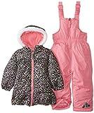 Pink Platinum Little Girls  Cheetah Printed Snowsuit