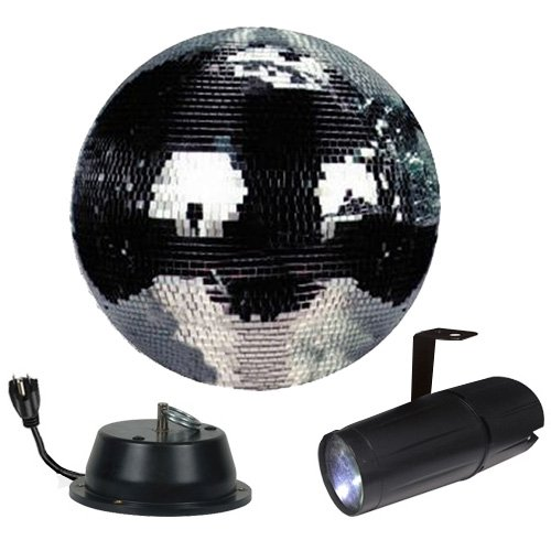 """12"""" Disco Mirror Ball Complete Party Kit With Led Pinspot And Motor - Adkins Professional Lighting"""